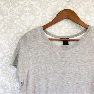 Ann Taylor | Gray open back blouse size large